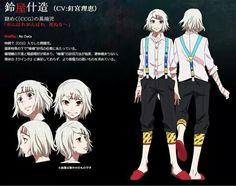 Suzuya Juuzuo anime design