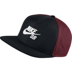Nike Mens SB Performance Trucker Snapback Hat Black White  Nike SB Hat  features raised embroidery and open mesh panels on a flat-brim silhouette  for classic ... e49fa330aa5