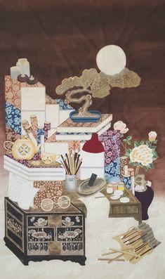 2016 쇼미전 작업을 하며 민화의 새로운 맛을 알게된 것 같아요ᆞ 민화는 본을 만들어 채색하는 그림... Korean Art, Asian Art, 3 Arts, Everyday Objects, Chinese Style, Bonsai, Still Life, Korean Fashion, Folk Art