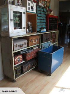 Wooden Crate on Castor Wheel