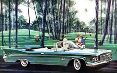 1961 Chrysler Imperial Crown Convertible - Promotional Advertising Poster