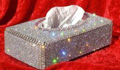 Items similar to Swarovski Crystal Tissue Box/ Silver/ Very Unique on Etsy Glitter Make Up, Sparkles Glitter, Glitter Girl, Kleenex Box, Ideias Diy, Love Sparkle, Deco Design, Glitz And Glam, Colorful Birds