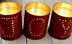 JOY Holiday Tin Luminaries - Planning to make these with all sorts of messages! http://www.celebrations.com/c/read/joy-holiday-tin-luminaries