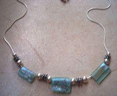 "#""Roman Glass Jewelry"" delicate authentic roman glass sterling #silver #necklace by Bluenoemi, $155.00  http://www.bluenoemi-jewelry.com/isroglsije.html"