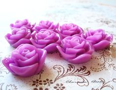 Resin Roses Cabochons Flower Accessory