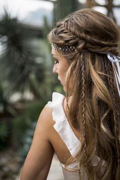 Love this hairstyle wedding hairstyles updo Wedding hairstyle, Wedding updo Wedding hairstyle trend, Bridal hair, Bridal inspiration, Wedding inspiration # brautfrisur Brautmode brautstyling brauthaare Veil Hairstyles, Wedding Hairstyles For Long Hair, Wedding Hair And Makeup, Hairstyle Wedding, Braided Bridal Hairstyles, Bohemian Wedding Hairstyles, Long Hair Wedding, Hippie Wedding Hair, Wedding Nails