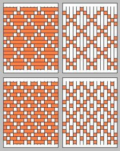 Paper weaving need not be boring: up-down-up-down. Rather, paper weaving patterns can be surprizingly complex. Inkle Weaving, Tablet Weaving, Paper Weaving, Weaving Textiles, Weaving Art, Tapestry Weaving, Hand Weaving, Fabric Weaving, Weaving Projects