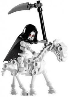 Skeleton LEGO Reaper Horse Loose Castle Mini Figure for sale online Skeleton Arm, Skeleton Warrior, Don't Fear The Reaper, Grim Reaper, Lego Halloween, Halloween Stuff, Street Art, Mega Pokemon, Lego Toys