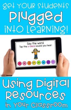 Get Your Students Plugged into Learning! Learn how to use digital activities in the classroom to review important skills! via @Molly - Lucky to Be in First