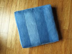 Denim Arrow Floor Cushion Pillow by GoodDenim on Etsy