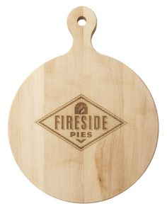 Maple 16 inch Round Artisan Cutting Board with Your 1-Color Logo