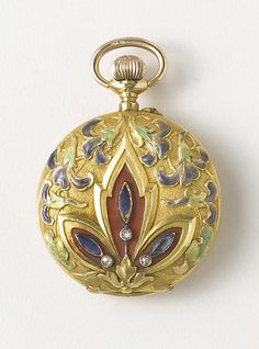 El Aguila. An 18k gold, enamel and stone set fob watch Circa 1900. | © Bonhams 2001-2014