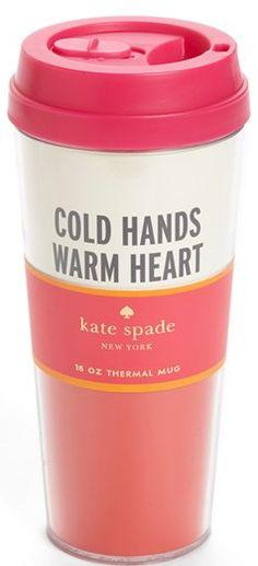 'cold hands' thermal travel mug #katespade http://rstyle.me/n/egpa8nyg6