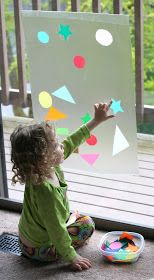 FUN AT HOME WITH KIDS: Contact Paper Window Art