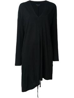 ANN DEMEULEMEESTER Asymmetric V-Neck Dress. #anndemeulemeester #cloth #dress
