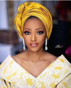Firdausyyyy is such a beauty Makeup and turban Outfit African Head Scarf, African Hair Wrap, African Head Wraps, Hair Wrap Scarf, Hair Scarf Styles, African Fashion Dresses, African Dress, Ankara Fashion, Fashion Outfits