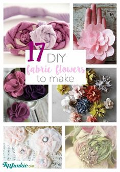DIY Fabric Flowers to Make