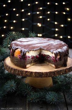 Seromakowiec with cherries ~ fast alternative to a classic cheesecake Polish Desserts, Polish Recipes, Cookie Desserts, No Bake Desserts, Dessert Recipes, Polish Food, Cupcake Cakes, Cupcakes, Sweet Cakes