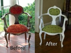 before/after - I have an armchair in need of some TLC