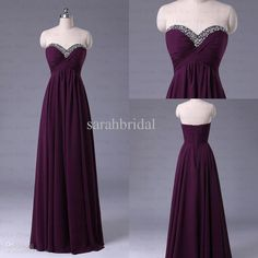 d64ef62216 Wholesale Bridesmaid Dress - Buy Real Picture 2013 New Elegant Bridesmaid  Dresses Cheap Dark Purple Beaded Sweetheart Under  100 Chiffon Long Party  Prom ...