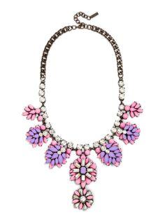Day-Glo Garden Bib Necklace | BaubleBar