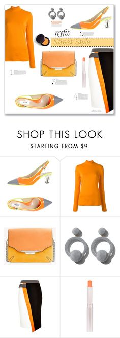 """""""NYFW Street Style"""" by ultracake ❤ liked on Polyvore featuring Moschino, PS Paul Smith, rag & bone, Rebecca de Ravenel, River Island, Laura Mercier, StreetStyle, fashiontrend and ultracake"""