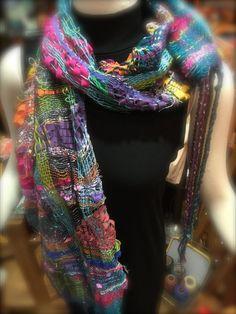 Saori handwoven scarf: Feeling Groovy by saorisantacruz on Etsy