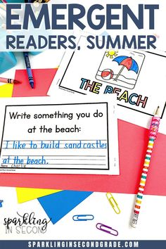 Summer slope? Keep practicing those reading skills with a summer emergent reader. Great for beginning readers or kindergarteners. Kindergarten Activities, Classroom Activities, Classroom Ideas, Primary Classroom, Kindergarten Teachers, Teaching Phonics, Teaching Resources, Phonics Videos, Print Awareness