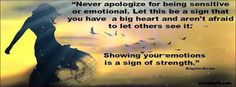 showing your emotions is a sign of strength