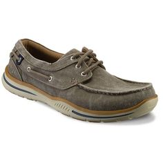 Skechers Relaxed Fit Elected Horizon Men's Boat Shoes ($70) ❤ liked on Polyvore featuring men's fashion, men's shoes, men's loafers, ovrfl oth, mens canvas deck shoes, sperry top sider mens shoes, mens boat shoes, skechers mens shoes and mens topsiders