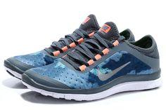 Nike Free 3.0 V7 Mens Light Blue Low Orange Silver