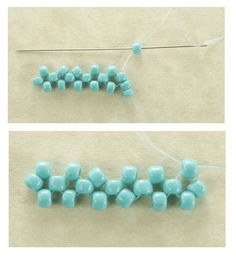 Two-Needle Right-Angle Weave BeadingTutorial