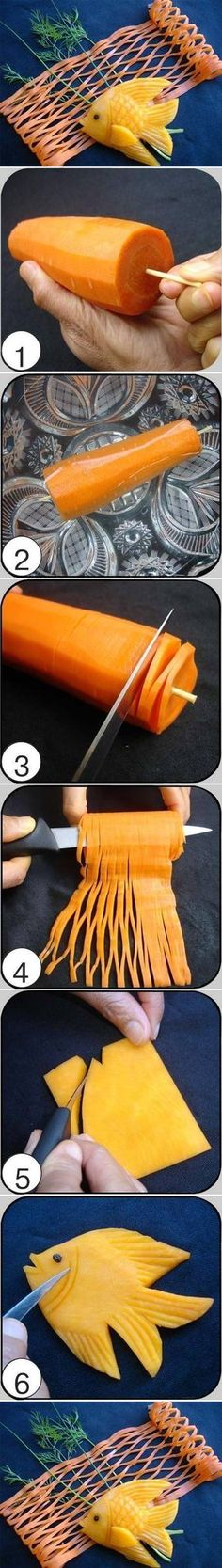 DIY Carrot Fish and Net