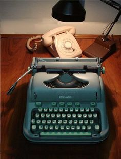 1960's Portable typewriter. I had one of these in college! (1980's)
