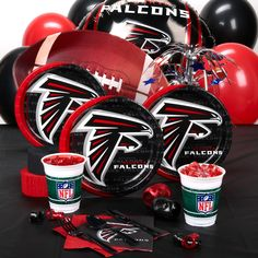 Atlanta Falcons Party Supplies, 36751 if we get to the Super Bowl this will be the stuff