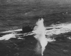 U-288 (тип VII-C), атакуемая палубным бомбардировщиком «Эвенджер» 846-й британской эскадрильи (авианосец «Трекер») из конвоя JW-58 в Баренцевом море. U-288 была потоплена со всем экипажем (49 человек) 3 апреля 1944 года в точке с координатами 73.44 с.ш., 27.12 в.д. глубинными бомбами с британских бомбардировщиков «Свордфиш» 819-й эскадрильи (авианосец «Активити») и бомбардировщиков «Эвенджер» и «Уалд Кэт» 846-й эскадрильи (авианосец «Трекер»).