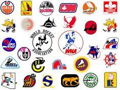 WHA logos. Hockey Rules, Flyers Hockey, Hockey Logos, Women's Hockey, Hockey World, Sports Team Logos, Hockey Cards, Hockey Players, Hockey Stuff