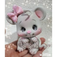 By Erica Ferrari Polymer Clay Animals, Fimo Clay, Polymer Clay Projects, Polymer Clay Creations, Cold Porcelain Tutorial, Fondant Animals, Clay Fairies, Clay Baby, Cute Clay