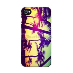 The Palm Tree Beach Case Cover for Iphone 4 4s ($11) found on Polyvore