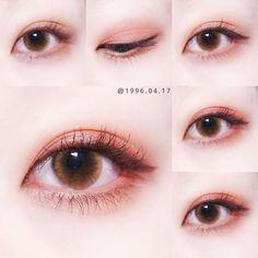 korean makeup looks Makeup Trends, Makeup Inspo, Makeup Inspiration, Makeup Tips, Beauty Makeup, Daily Makeup, Asian Make Up, Korean Make Up, Eye Make Up
