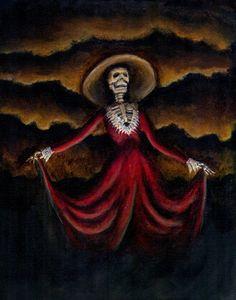 La Catrina by John Day Dark Fantasy Art, Memento Mori, Deviantart, Artist, Painting, Beautiful, Skulls, Fall, Holiday