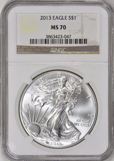 This 2001 Silver Eagle is a popular coin for investors and collectors… Silver Eagle Coins, Silver Eagles, Bullion Coins, Silver Bullion, Buy Coins, Half Dollar, Coin Collecting, Investors, Mint
