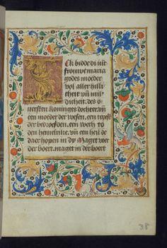 W.182, fol. 38r. Netherlands, 1450-75.
