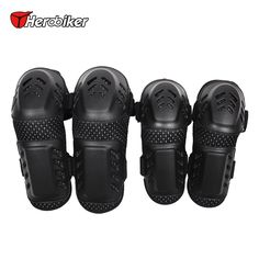 HEROBIKER Motorcycle MTB BMX DH Bike Skating Skateboard Elbow Pads + Knee Pads Set Guard Extreme Sport Protective Gear Protector
