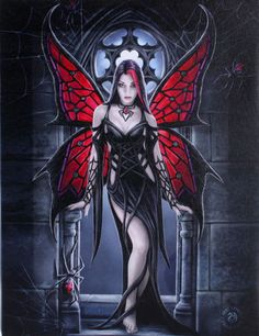 Gothic Spider Fairy Wall Plaque Art Print | Anne Stokes Fantasy Arachnafaria Wall Plaque