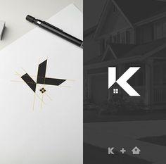 finance design Flat Logo Design on Instag - finance Flat Logo, K Logos, Typography Logo, Corporate Design, Branding Design, Logo Branding, Web Design Logo, Brand Identity Design, Design Logo Inspiration