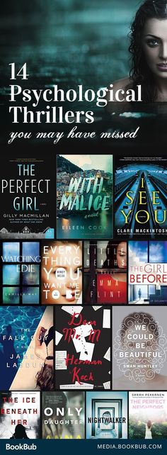 14 Must-Read Psychological Thrillers You May Have Missed 14 suspenseful psychological thrillers you probably haven't read, but should. If you loved Gone Girl or The Girl on the Train, this book list is for you! Books And Tea, I Love Books, New Books, Books To Read, Book Suggestions, Book Recommendations, Reading Lists, Book Lists, Reading Time