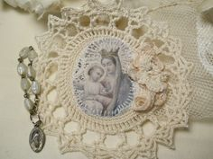 Handmade Religious Scapular Mary by Rhonda..A Little Bit French <3<3