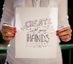 Create with your hands || The Fresh Exchange  || Megan Gilger
