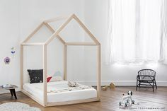 Toddler bed made to order montessori bed house bed wood baby furniture Big Girl Rooms, Baby Boy Rooms, Baby Bedroom, Girls Bedroom, Bed Measurements, House Beds, Baby Furniture, Furniture Movers, Furniture Stores